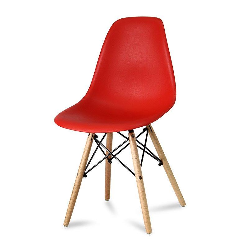 Krzesło z tworzywa Currio czerwone