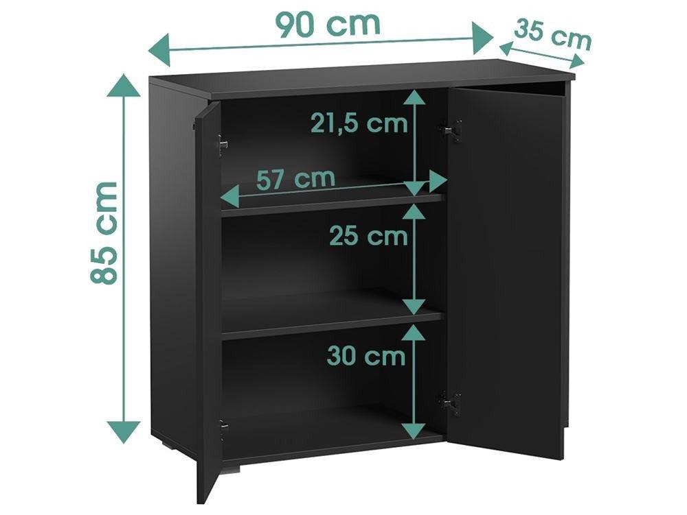 Buffet Sofi Black matt modern style dimensions