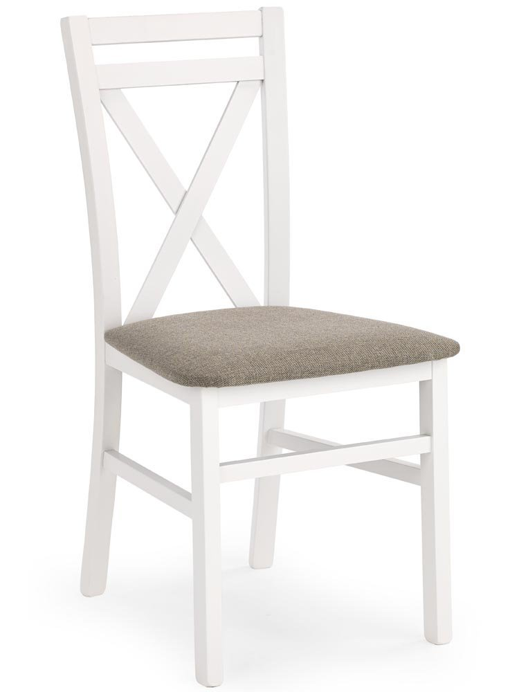 Krzesło drewniane Dariot o kolorze białym