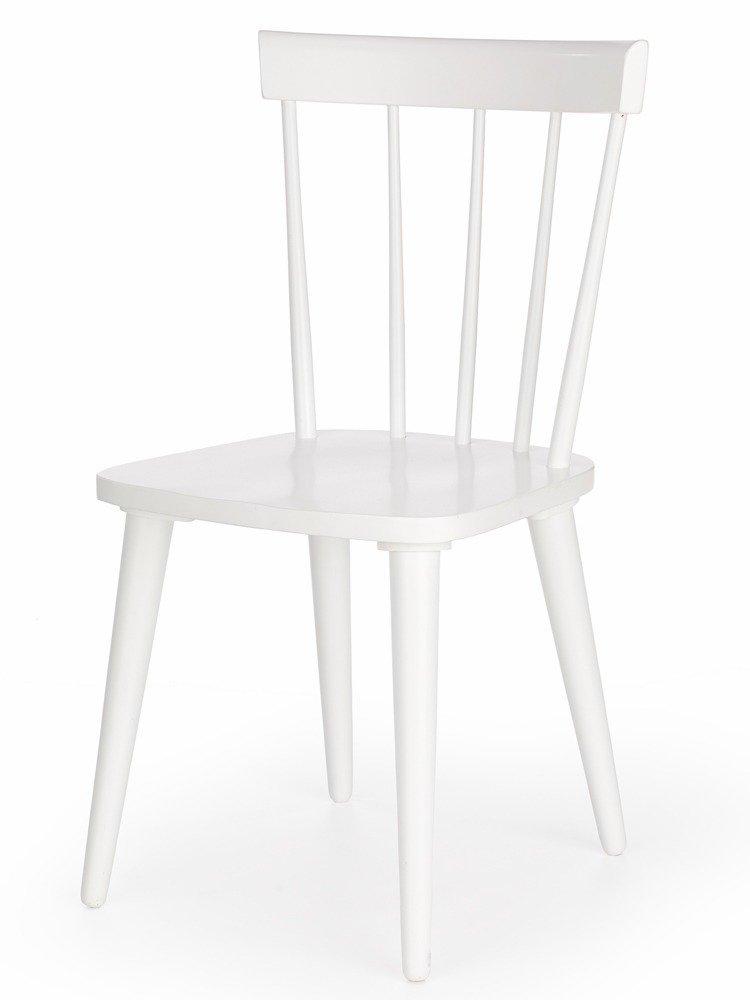 Krzesło drewniane Genova o kolorze białym