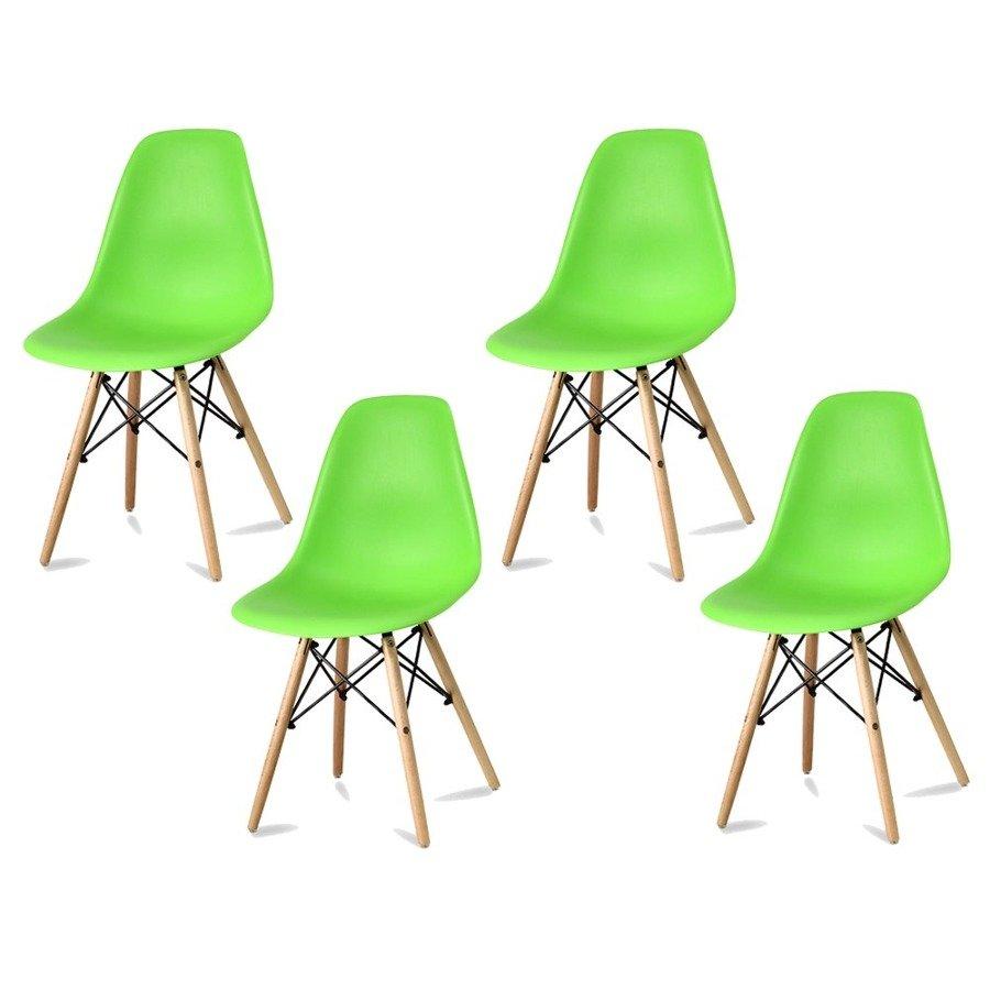 Komplet 4 krzeseł currio zielony