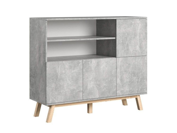 Sideboard Vero Grey with a marble effect