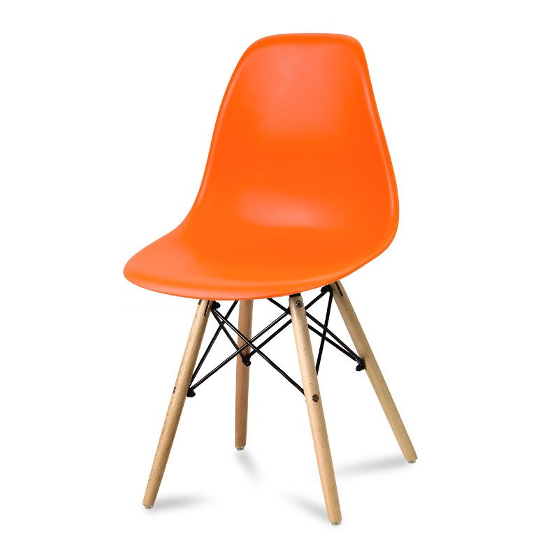 Krzesło z tworzywa Currio pomarańczowe