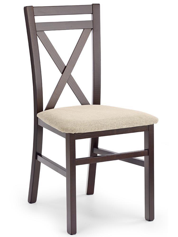 Krzesło drewniane Dariot o kolorze ciemnego orzechu