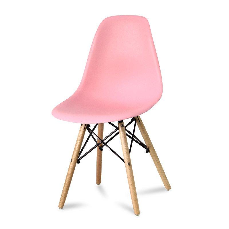 Krzesło z tworzywa Currio różowe