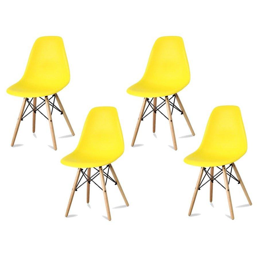 Komplet krzeseł Currio żółte