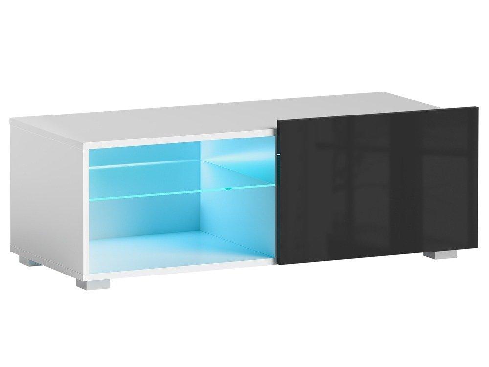 TV Cabinet FOCUS I  White Black Gloss