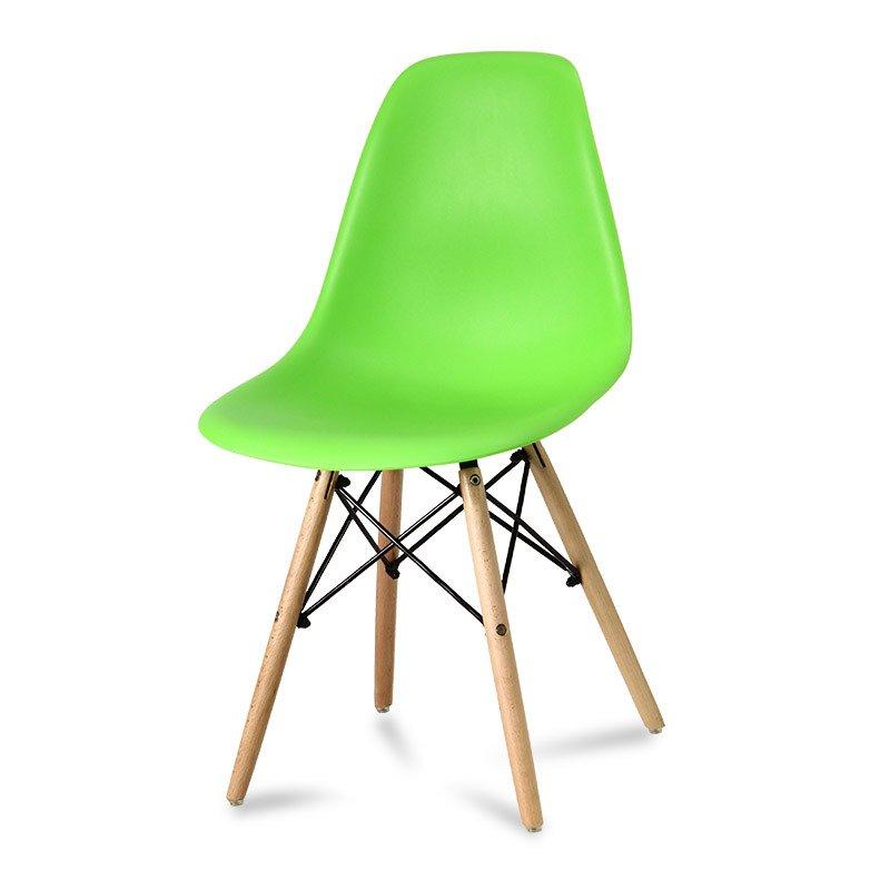 Krzesło z tworzywa Currio zielone