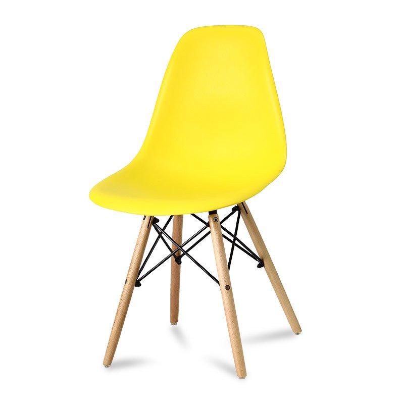 Krzesło z tworzywa Currio żółte