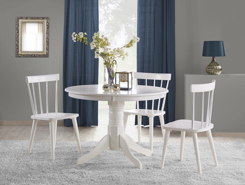 Stół Okrągły do Jadalni Spacey Biały