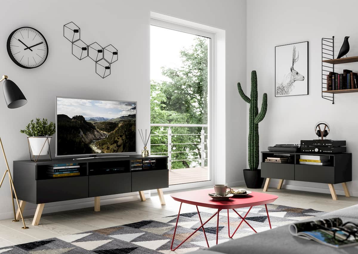 TV Unit Astra II Black Matte 150cm