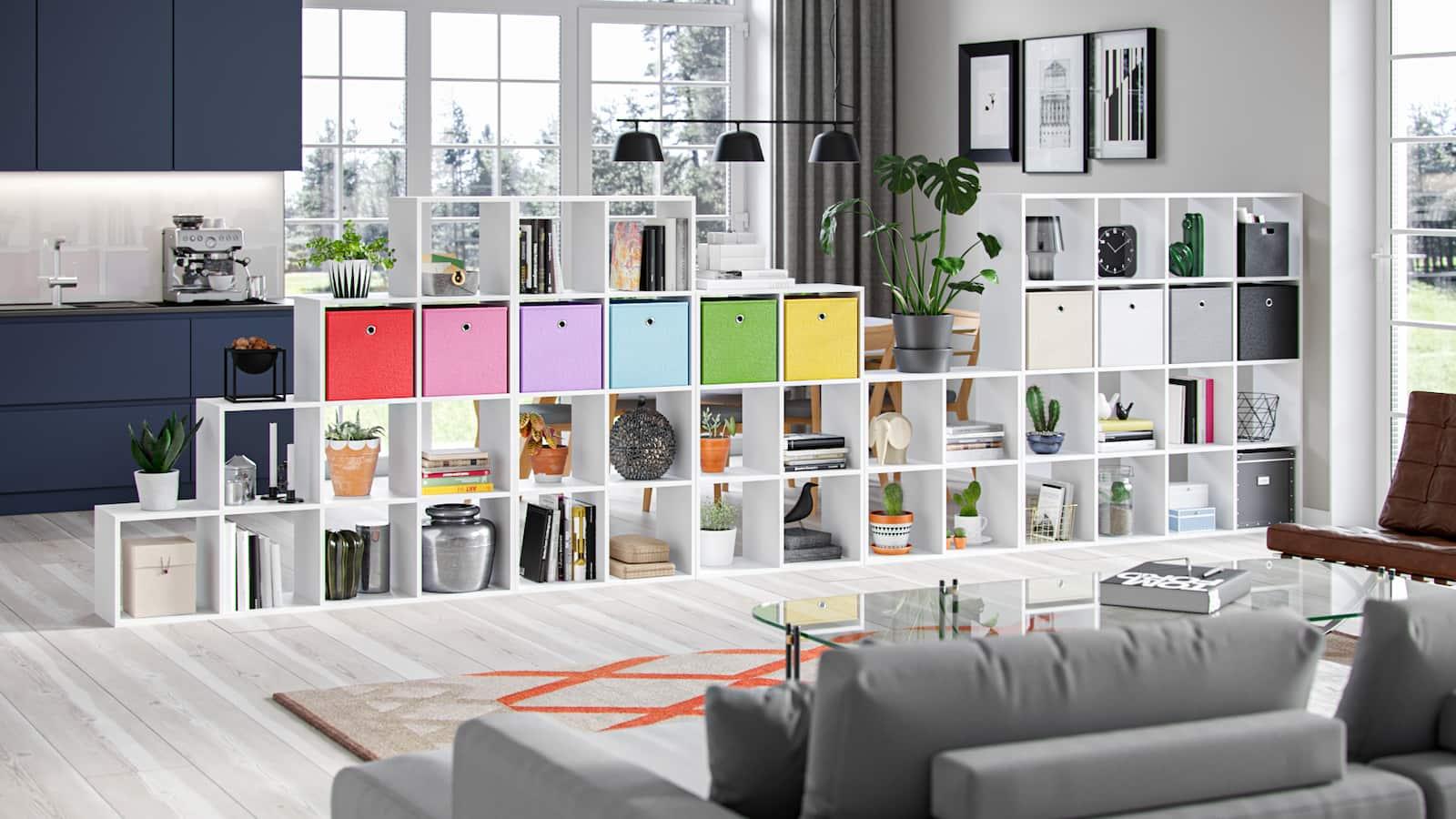 Libreria Socrate bianca opaco 6 scaffali