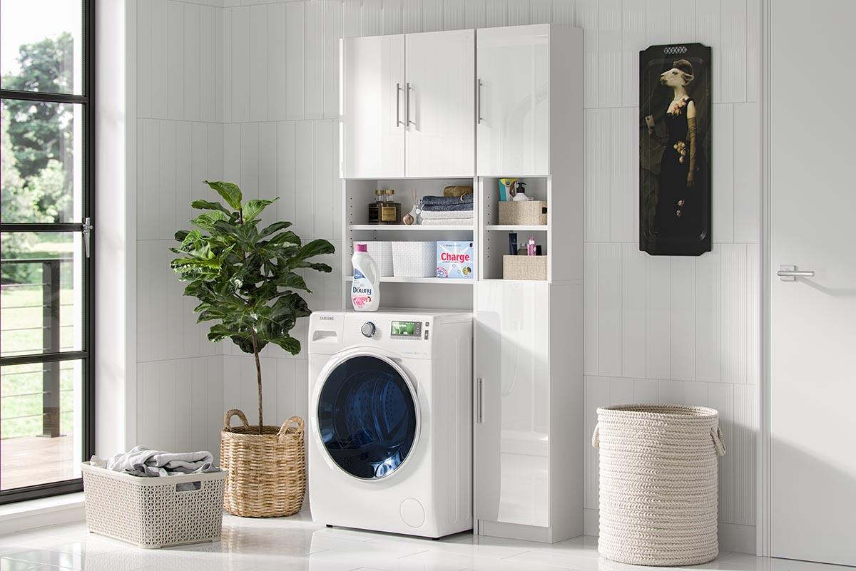 Szafka słupek łazienkowy Melody 32 cm kolor biały mat