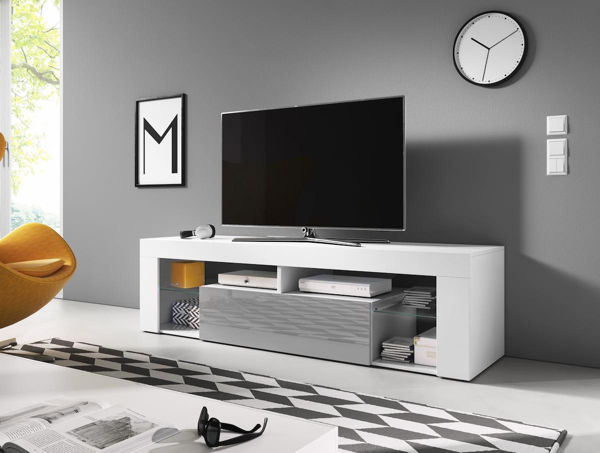 Mobile TV Denali 160 dal colore bianco opaco e grigio lucido