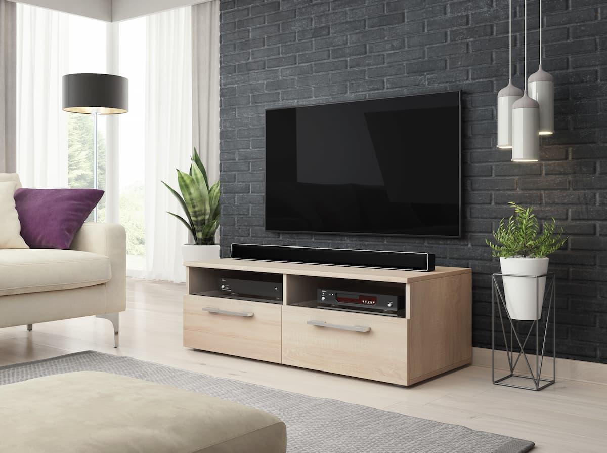 Meuble TV Praco chêne sonoma 100 x 46 x 34,8 cm
