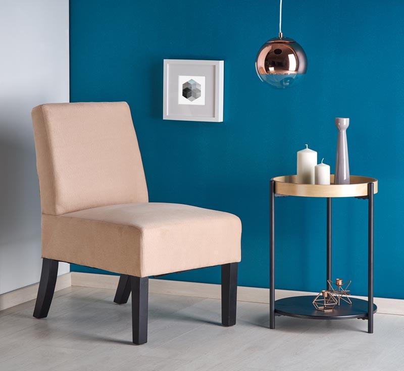 Fotel Wysokiej Jakości do Salonu Hel Beżowy