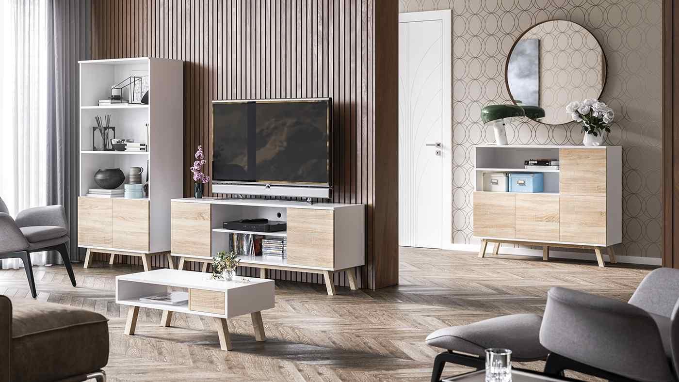 Meuble TV Vero chêne sonoma 150 cm