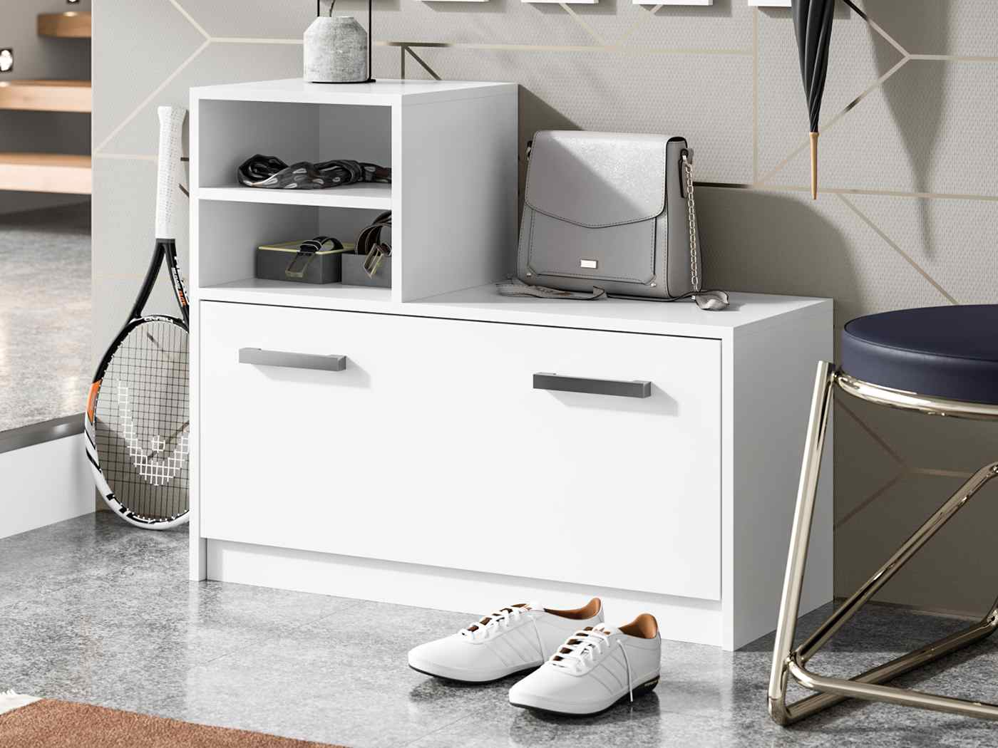 Shoe cabinet Ruby coulour white matte