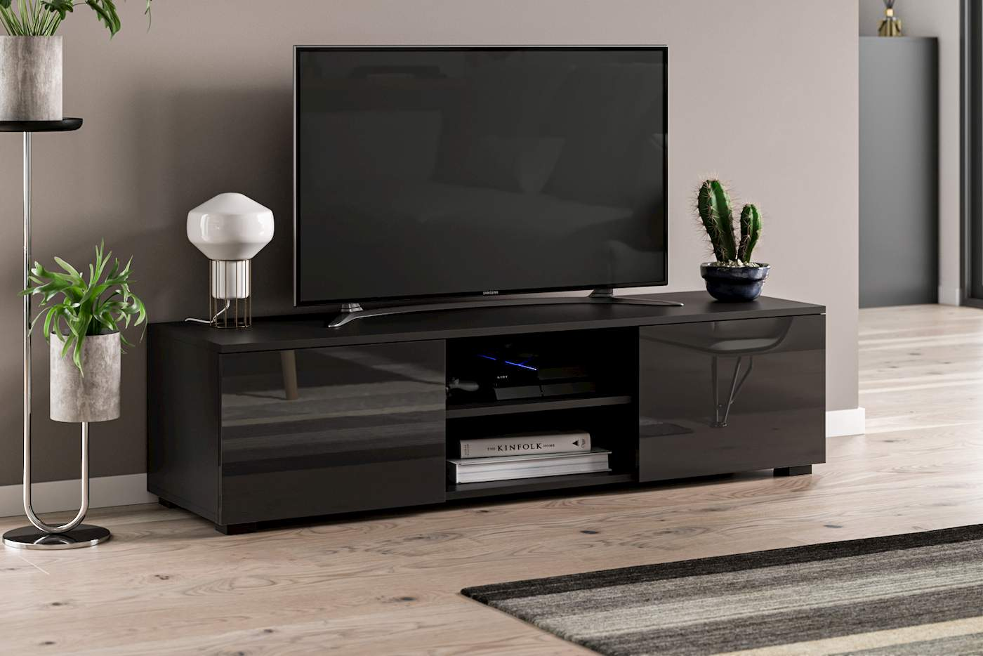 TV Unit Tristan black gloss