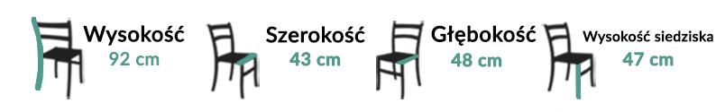 Wymiary Krzesło Firenze
