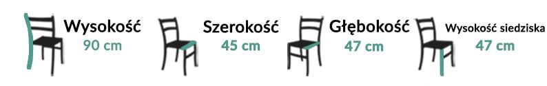 Wymiary Krzesła Bari