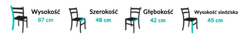 Wymiary Krzesła JIM I