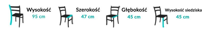 Wymiary Krzesła Perla II