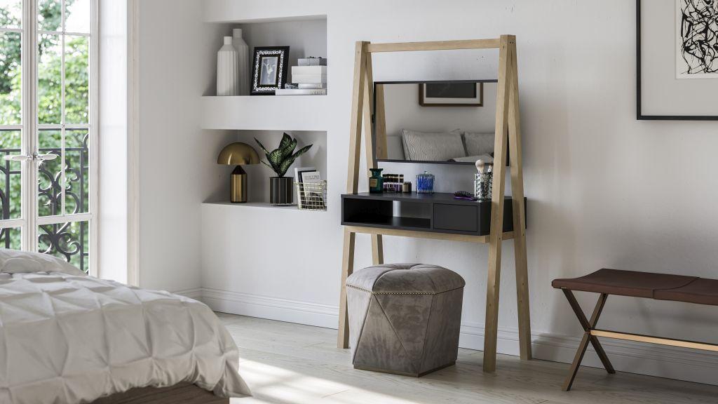 dressing table black matt modern