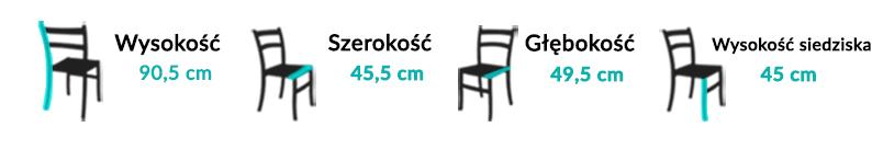 Wymiary Krzesła Cono I