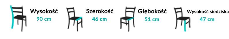 Wymiary Krzesła Cono II
