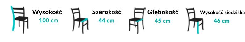 Wymiary Krzesła Perla