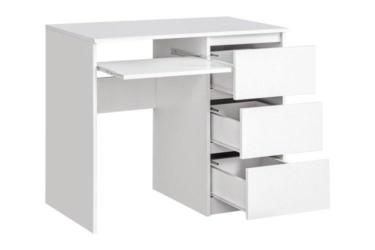 Bureau table d ordinateur meuble informatique tiroirs cm