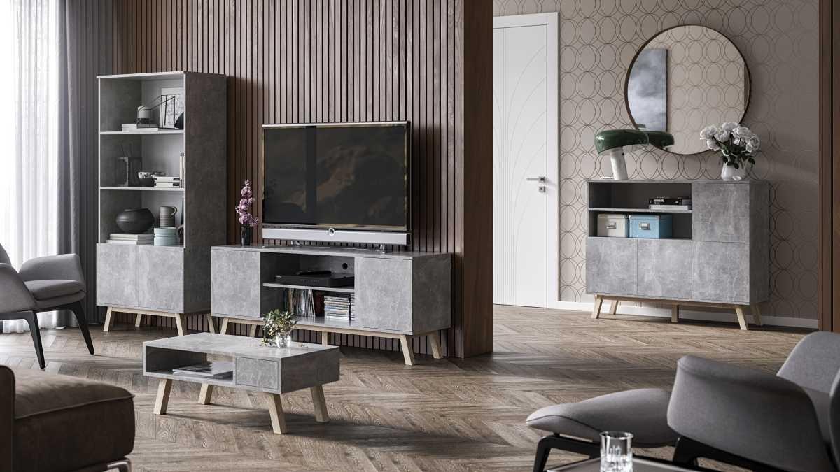 Meuble TV Vero gris 150 cm